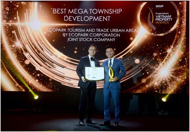 ecopark duoc property awards vinh danh dai do thi tot nhat viet nam