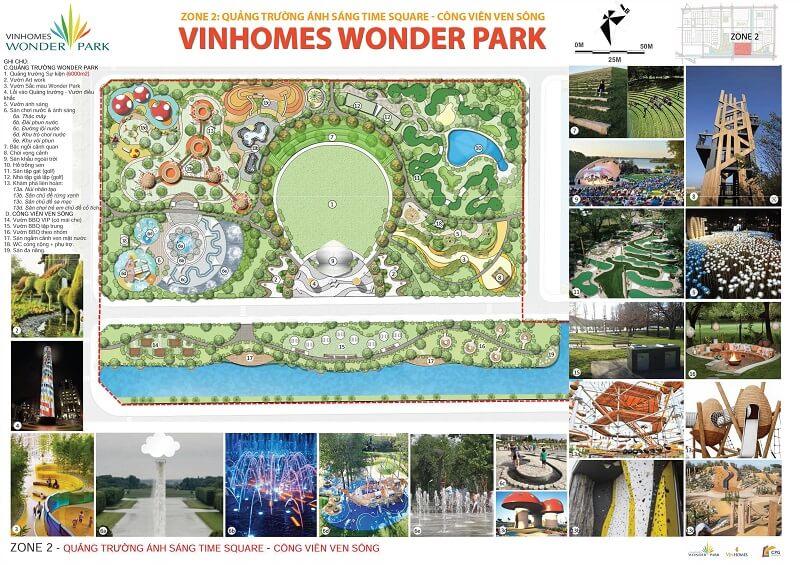 khu tien ich zone 2 vinhomes wonder park