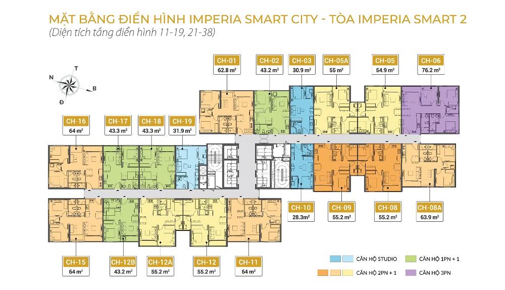 Mặt bằng tòa I5 Imperia Smart City