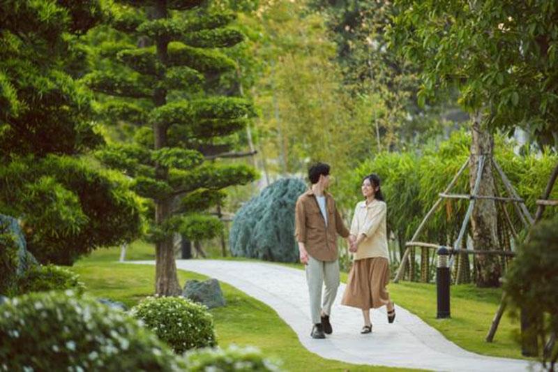 the grand sapphire vinhomes smart city he sinh thai nghi duong mang dam dau an resort