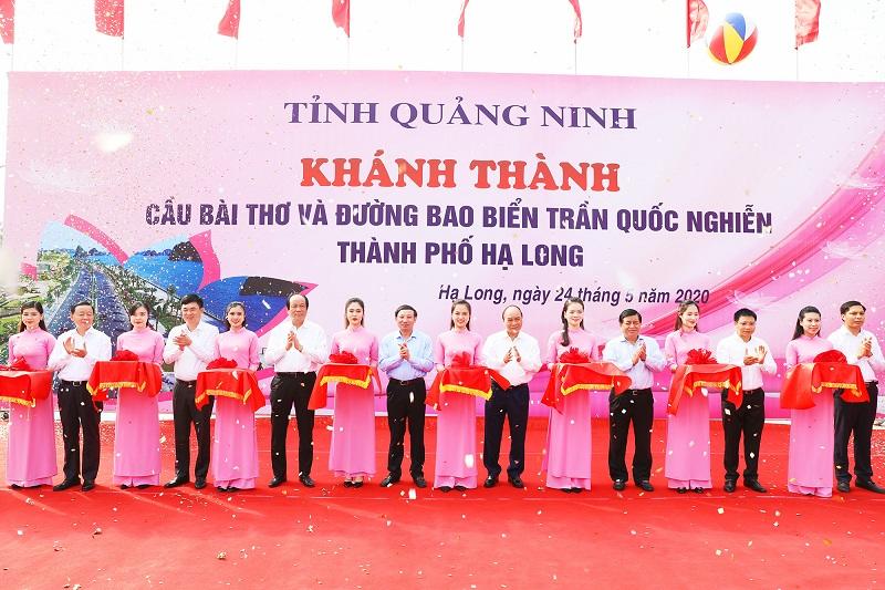 thu tuong chinh phu nguyen xuan phuc cat bang khai truong 2 cong trinh trong diem tai quang ninh