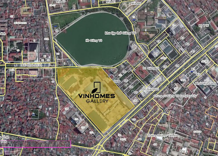 vinhomes gallery giang vo location