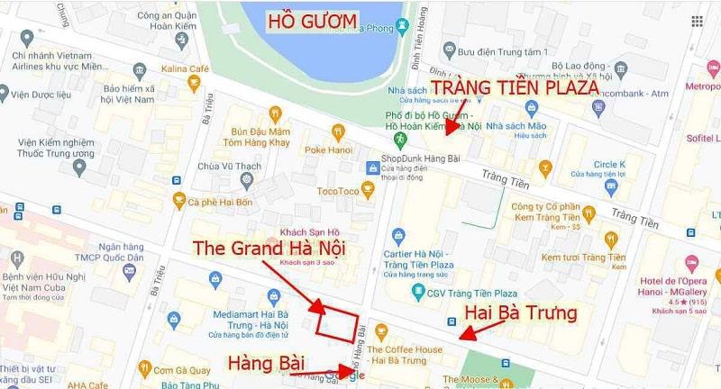 Vi tri The Grand Ha Noi duoc bao boc boi he thong giao thong chat luong de dang ket noi