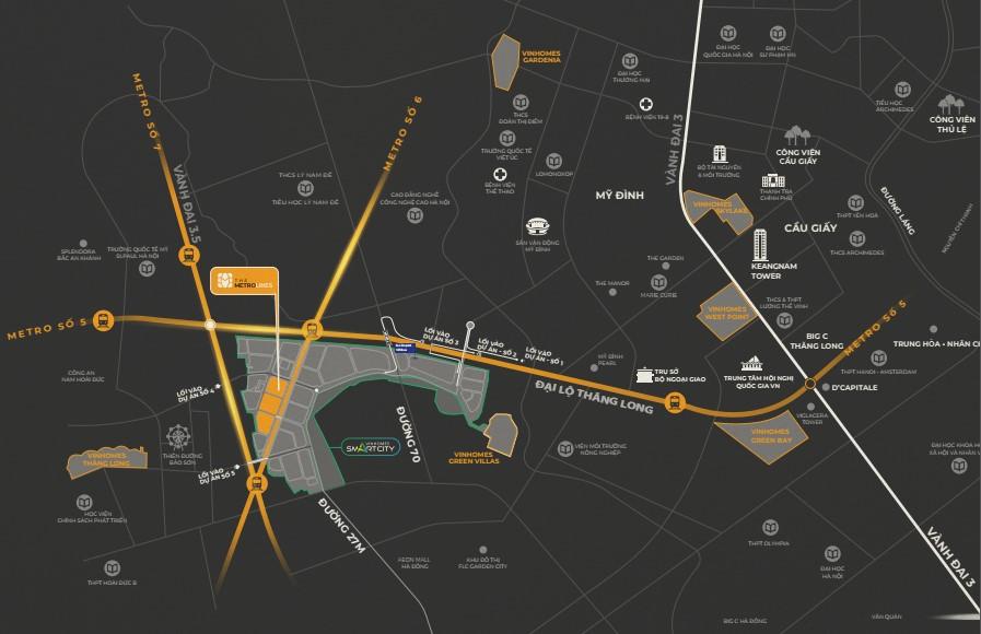 the metrolines vinhomes smart city1